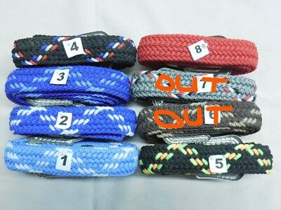 """New Braided 1"""" Nylon Rope Web Belt -Western Style Buckle-USA Made-Varied Colors"""