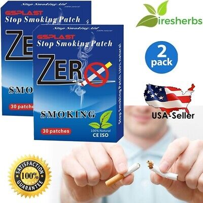 #1 Best - Stop Smoking Patch 60 Patches *All Herbal Nicotine Free Quit End 2 Mos