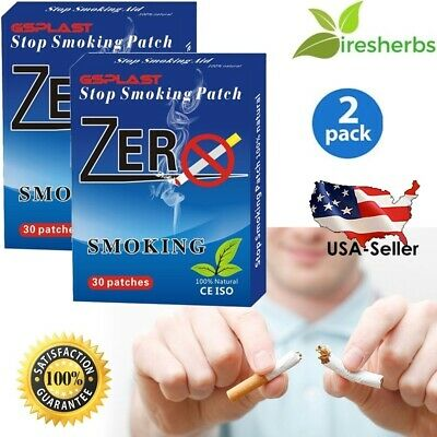 Stop Smoking Patch 60 Patches *all Herbal Nicotine Free Quit End Skin 2 Months