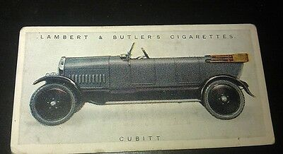1922 CUBITT  Lambert & Butler UK Cigarette Card