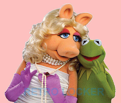 Classic Retro High Quality Muppets Mousemat Pad Of Kermit And Miss Piggy