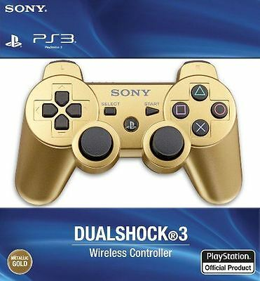 Official Sony PlayStation 3 Dualshock 3 Wireless Controller - Gold PS3 NEW