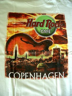 HRC Hard Rock Cafe Copenhagen City Tee White Size L NWT OVP
