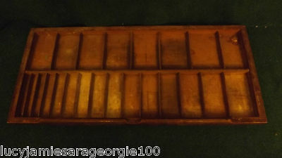 VINTAGE,PRINTERS,TRAY,RARE,WOODEN,FULL,SIZE,LARGE,QUALITY,DARK,WOOD,PROP