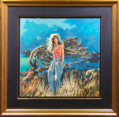 Nicola Simbari Untitled serigraph H.Signed with custom frame Make an Offer!