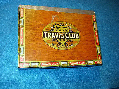 Travis Club Corona Cigar Box, San Antonio,TX.