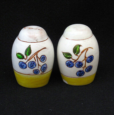 STANGL BLLUEBERRY SALT AND PEPPER SHAKERS