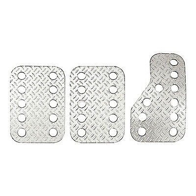 Sparco Pre-Curved Anodised Aluminium Pedal Set Silver
