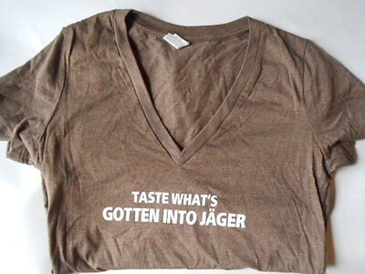 Jager Jagermeister SPICE Medium V Cut Women's T Shirt - New NICE! MADE IN USA!