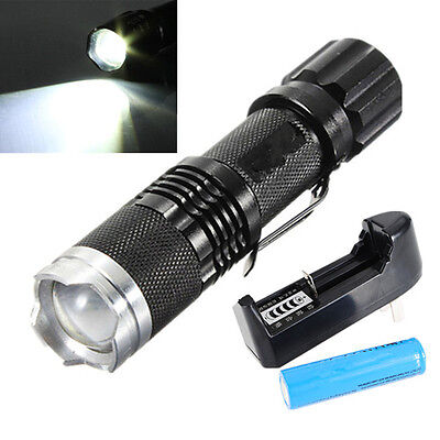 UltraFire 2000Lm CREE XML T6 LED Zoomable Focus Flashlight Torch 18650+Charger