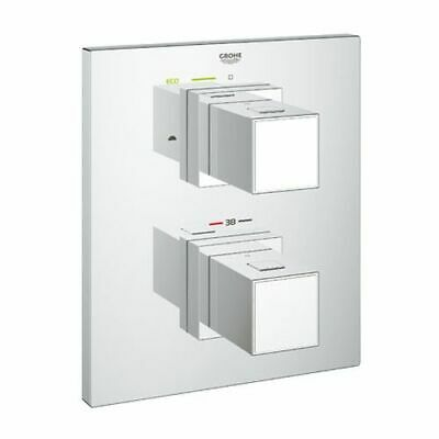 Grohe Grohtherm Cube Bade Thermostat Fertigset mit 2-Wege-Umstellung, 19958