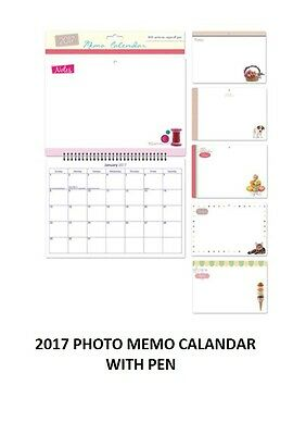 2017 Photo Memo Note Calendar Reminder Board With Write On And Wipe Off Pen 3055