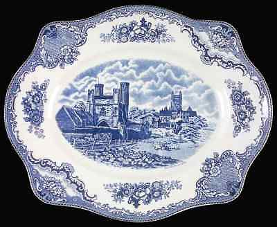 Johnson Brothers OLD BRITAIN CASTLES-BLUE Oval Platter
