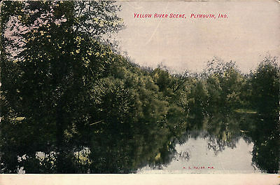 Yellow River Scene, Plymouth, IN Indiana 1908