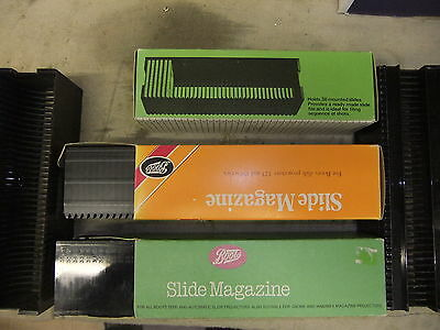 Slide projector slide tray for BOOTS HANIMEX & GNOME 36 + NO box x 3 TRAYS