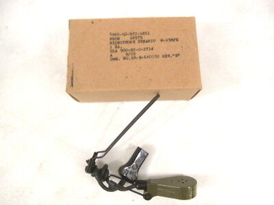 post-Vietnam US Army M-138/G Microphone for CVC Helmet - MINT Unissued Condition