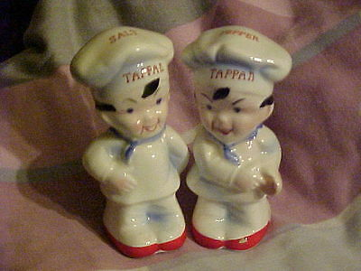 """Salt & Pepper Shakers """"Ceramic Tappan Boys/Chef Outfits"""""""