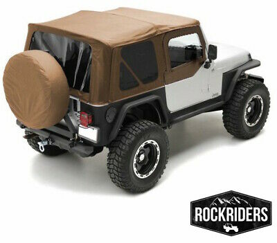 1997-2006 Jeep Wrangler Replacement Canvas Top Upper Skin & Rear Windows Spice