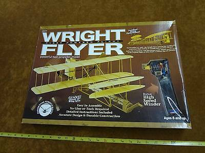 Whitewings Giant Wright Flyer Rubber Band Powered Twin Propeller Model Airplane
