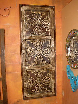 Istanbul  Rustic Architectural Wall Window-Wood & Tin-Home Decor-32x83-Brown