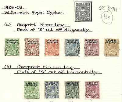 Morocco Agencies 1925-36 Gv Selection All Identified Fine Used Cat £170+