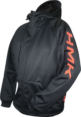 HMK Hooded Shell Waterproof Snow Jacket XL Black/Orange HM7HTSOXL