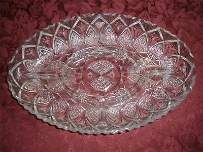 Retro Crystal  Patterned 5 Compartment Dish/platter France
