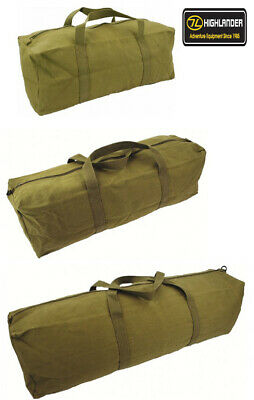 Mens Equipment Combat Army Military Tool Travel Canvas Pack Surplus Duty Kit Bag
