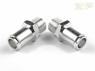 Pair of Aluminium 15mm Inlets / Outlets for Oil Catch Tank M16 x 1.5 Thread