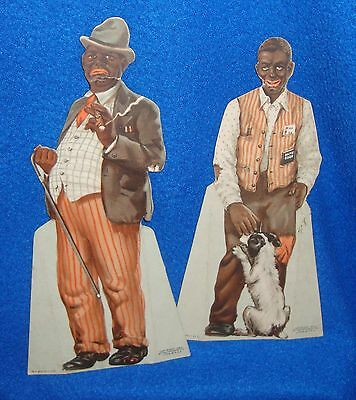 Vintage Black Americana Amos & Andy Pepsodent 1930 Stand Up Advertisement