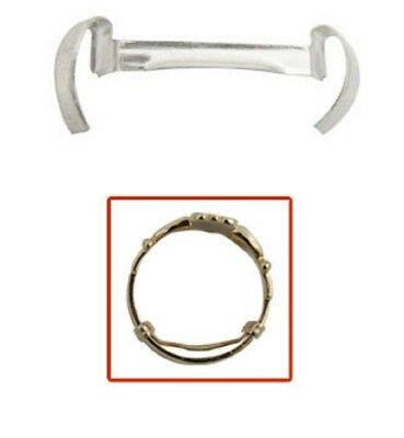 Ladies Ring Guard Size Reducer White Gold Filled (Pkg 3)
