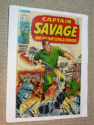 Captain savage #12 8.5 VF+ on the batlefield White Pages