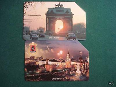 Russia - Rusia - 2 Old Urmet Card Kremlin - Arch Of Triumph- Pictures - A021