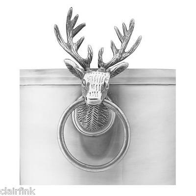 ***Handsome Silverplate Majestic Stag Handled Open Ice Champagne Bucket, NIB