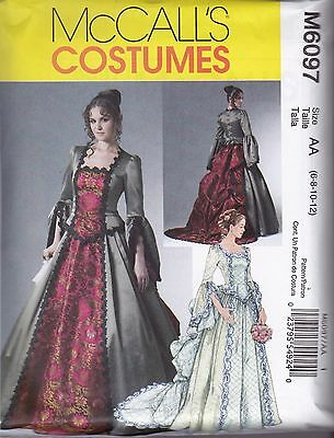 McCall's Sewing Pattern Misses; Victorian Costume sizes 6 - 20  M6097