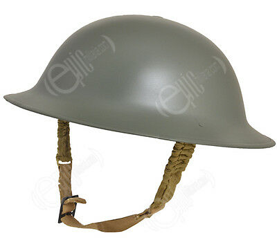 British Army BRODIE STEEL HELMET with Liner - Tommy Doughboy WW2 Repro - 57/58cm