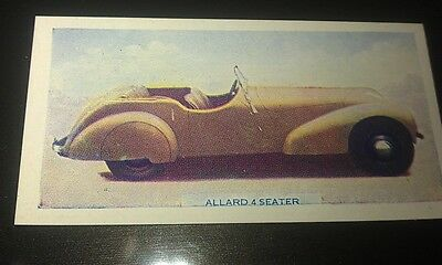 1949 ALLARD SPORTS  Orig  Colour Swap Card UK