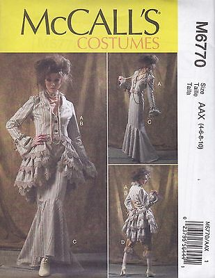 McCall's Sewing Pattern Misses' Jacket Bustle/Capelet Skirt & Pants 4-20 M6770