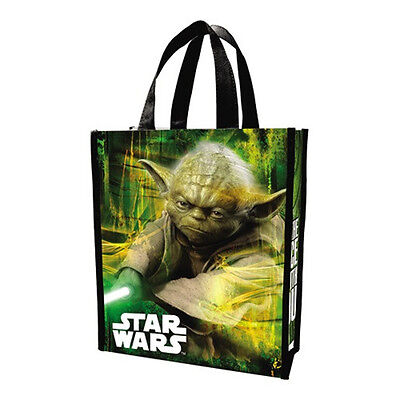 Star Wars Yoda with Lightsaber Art Small Recycled Shopper Tote Bag NEW UNUSED