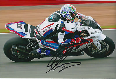 Troy Corser BMW SIGNED Autograph 12x8 Photo AFTAL COA WSB In Person Authentic