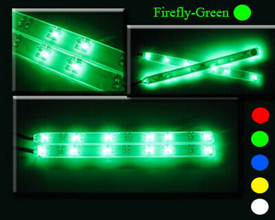 EXTREMELY BRIGHT LEDs STRIP LIGHT X2 GREEN CAR / TRUCK / SCT / BUGGY / TRUGGY