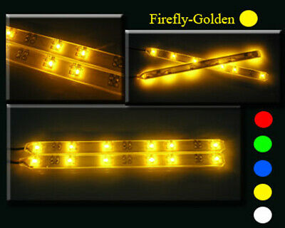 EXTREMELY BRIGHT LEDs LIGHT STRIP X2 GOLDEN CAR / TRUCK / SCT / BUGGY / TRUGGY
