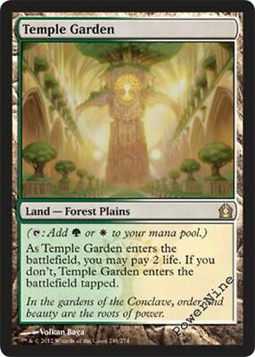 Land Ravnica City of Guilds Mtg Magic Rare 4x x4 4 PLAYED Temple Garden
