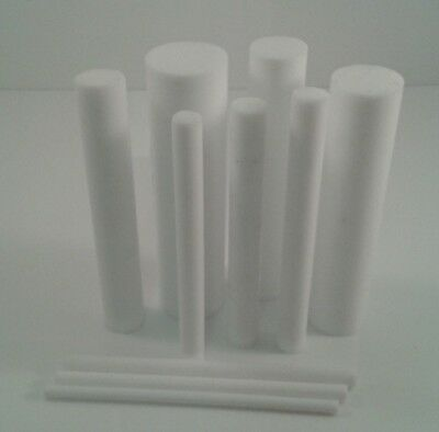 Acetal & Ptfe Round Bars Rod In Natural & Black 200Mm To 600Mm Long Lengths