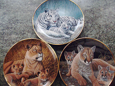 NATIONAL WILDLIFE FEDERATION. 3 plates numbered, TIGERS and  LIONESS x 2.