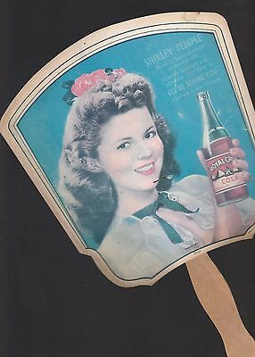 1940's RC Cola FAN Ad Featuring ShirleyTemple Photo
