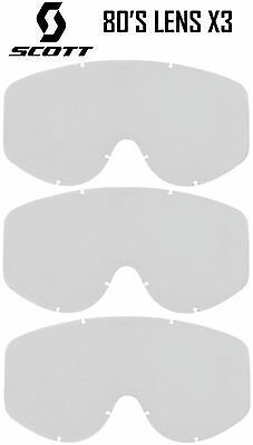 Scott 80's Genuine Replacement Clear Lenses X3 Motocross Goggles Recoil Xi 89