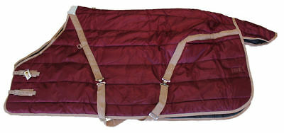Heavy Weight Winter Horse Stable Show Blanket Rug 420D Quilted 400g Burgundy 72