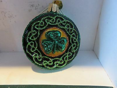 Celtic Brooch   Old World Christmas glass ornament