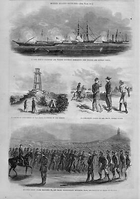 Civil War Morris Island Grand Guard Marching 1863 Negro Fatigue Party Lighthouse